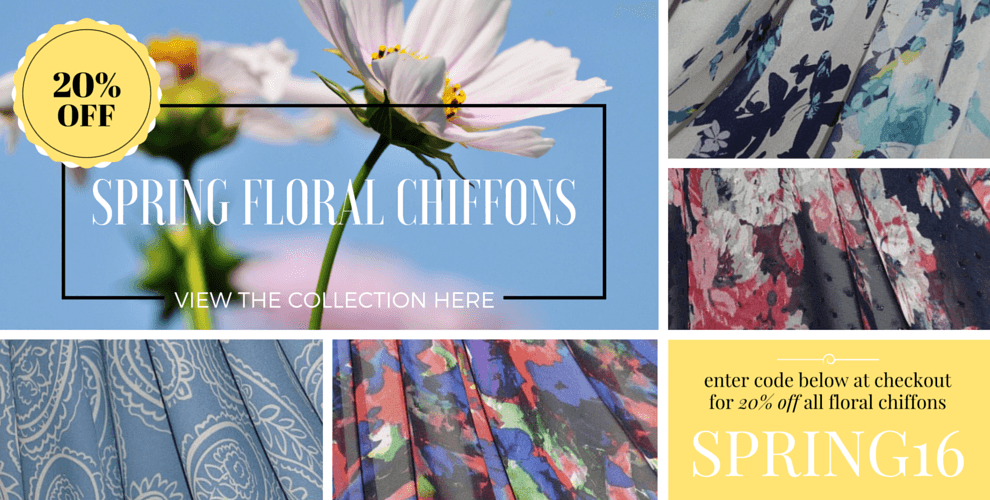 Spring Floral Chiffons