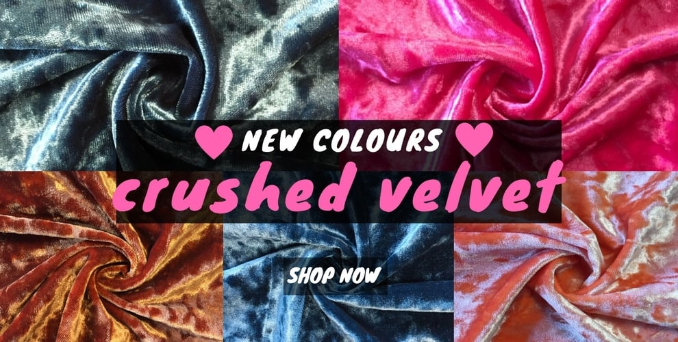 New crushed velvet!