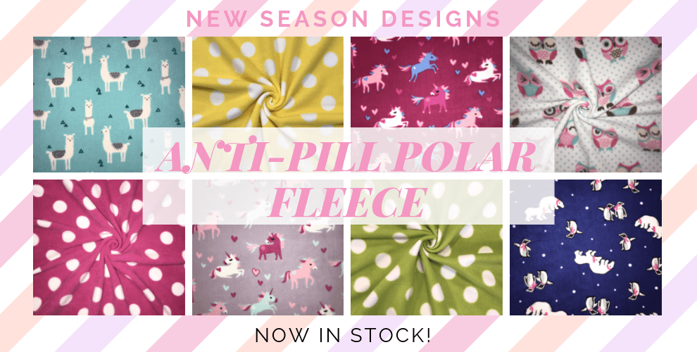 NEW Anti-Pill Polar Fleece Designs in Stock