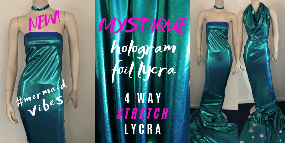 New Mystique Mermaid Hologram Nylon Lycra