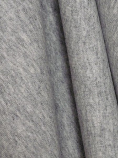 Light Grey Sweatshirt Fleece Backed Material