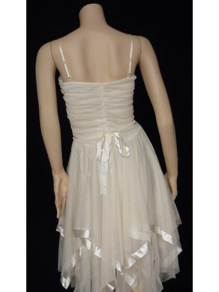 Angel White Floaty Prom Dress
