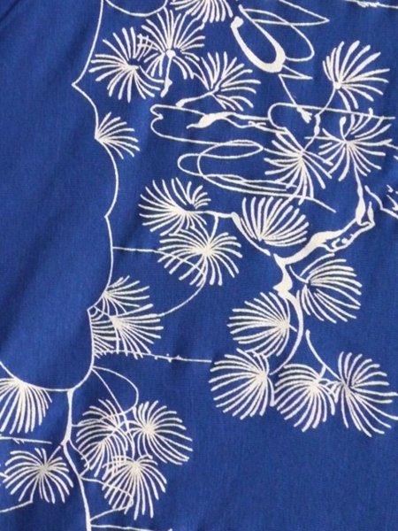 Viscose Cotton Stretch Lycra Fabric Royal Blue White