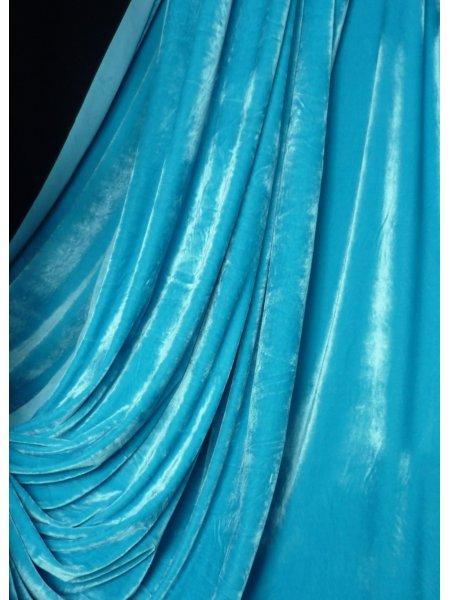 Velvet velour stretch spandex lycra fabric flo turquoise for Lycra fabric