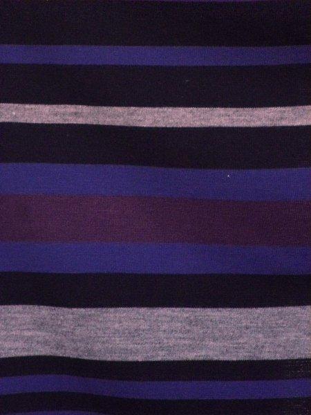 Stripe Sweater Knit Acrylic Soft Knitwear Fabric Royal
