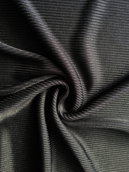 2 X 2 100 Polyester Rib Knit Stretch Fabric Black Sq99 Bk