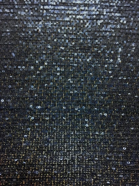 Showtime Fabric All Over Stitched Sequins Pleated Mesh