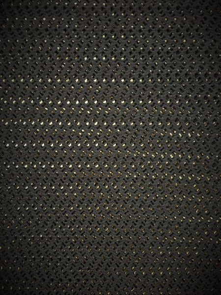 Knitted Crochet 4 Way Stretch Fabric Material Black Sq135 Bk