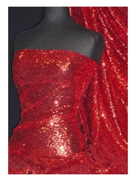 8362cfa3 Showtime Fabric All Over Stitched 3mm Sequins - Festive Red SEQ53 FRD