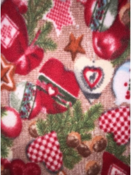 polar fleece anti pill washable soft fabric christmas prints