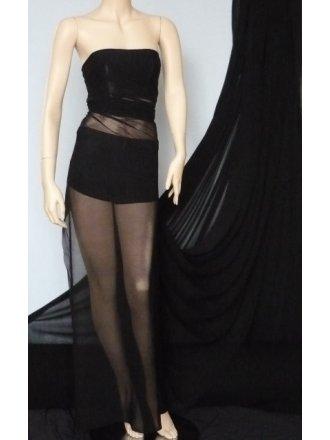 Helenka Mesh Stretch Sheer Dress Material- Black Q443 BK