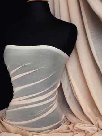 Helenka Mesh Stretch Sheer Dress Material- Stone Q443 STN