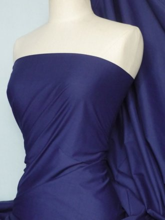 Poly Cotton Material- Indigo Blue Q460 IND