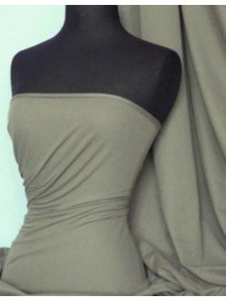 Single Jersey Knit 100% Light Cotton T-Shirt Fabric- Olive Q1249 OLV