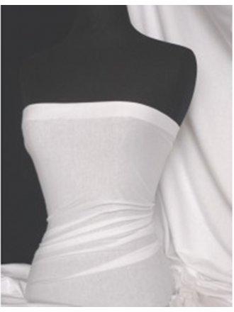 Single Jersey Knit 100% Light Cotton T-Shirt Fabric- White Q1249 WHT