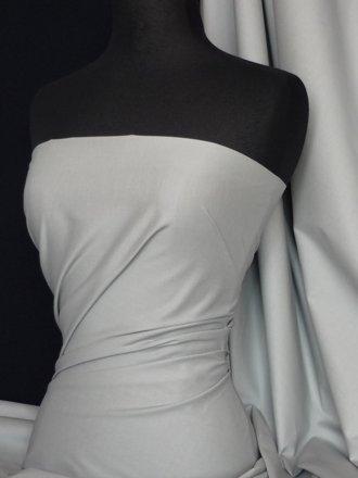 Cotton Poplin Stretch Shirt Fabric- Silver Grey Q448 SLVGR