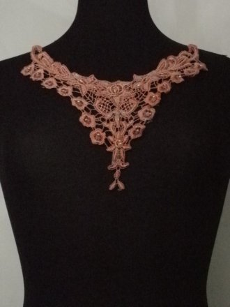 Dusky Pink Flower Lace Neck Piece