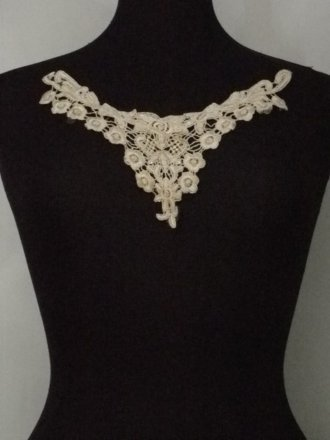Lace Flower Neck Piece- Vanilla Cream EM138 VNCRM