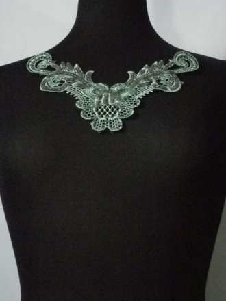 Paradise Green Floral Lace Neck Piece