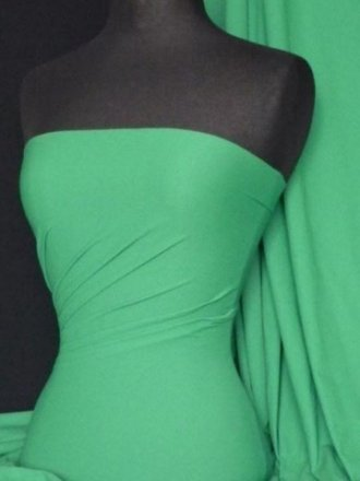 Viscose Cotton Stretch Lycra Fabric- Jade Green Q300 JDGR