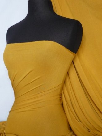 Viscose Cotton Stretch Lycra Fabric- Mustard Q300 MSTD