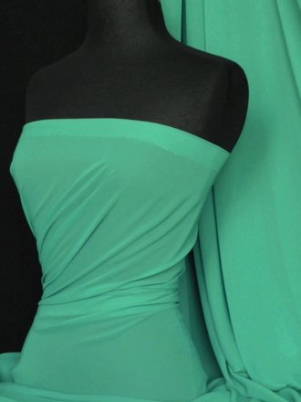 Chiffon Soft Touch Sheer Fabric Material-Sea Green Q354SGR