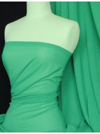 Chiffon Soft Touch Sheer Fabric Material- Astro Green Q354 ASTRO