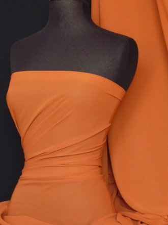 Chiffon Soft Touch Sheer Fabric Material- Terrocotta Q354 TERR