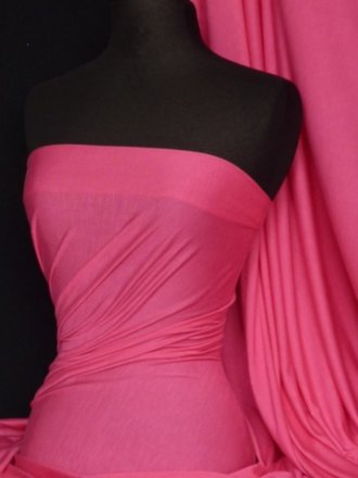 100% Viscose Stretch Fabric Material- Cerise VSC100 CRS