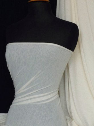 100% Viscose Lightweight Stretch Fabric Material- Cream Speck Q796 CRM