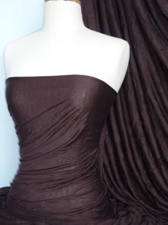 100% Crushed Viscose Stretch Fabric- Earth Brown