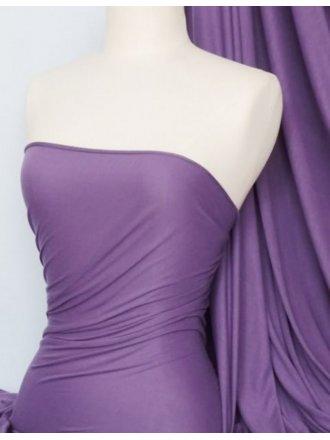 100% Viscose Stretch Fabric Material- Mid Purple 100VSC MDPPL