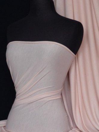 100% Viscose Lightweight Stretch Fabric Material- Peach Q796 PCH