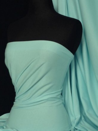 100% Cotton Interlock Knit Soft Jersey T-Shirt Fabric- Pastel Mint Q60 PMNT
