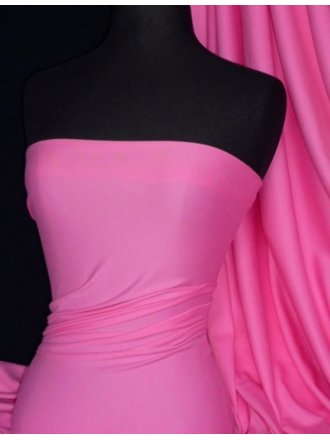 100% Cotton Interlock Knit Soft Jersey T-Shirt Fabric- Candy Pink Q60 CNPN