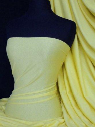 Single Jersey Knit 100% Light Cotton T-Shirt Fabric- Lemon Q1249 LMN