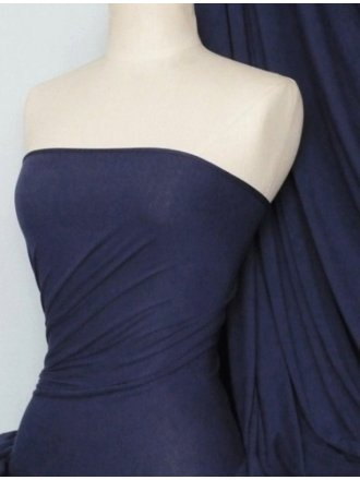 Heavy Viscose Cotton Stretch Lycra Fabric- Navy Q896 NY