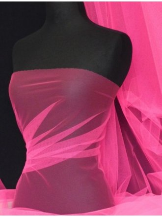 Tutu Fancy Dress Net Material- Flo Cerise Pink Q174 FCRS