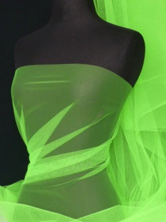 Tutu Fancy Dress Net Material- Flo Green Q174 FGR