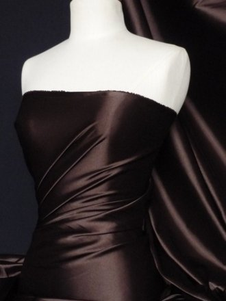 Fluid Super Soft Satin Stretch Fabric- Brown Q855 BR
