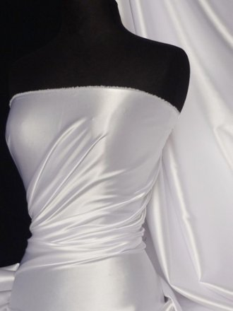 Super Soft Satin Fabric- White Q710 WHT