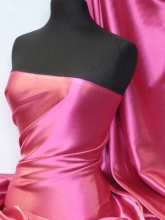 Satin Medium Weight Fabric- Cerise Q243 CRS