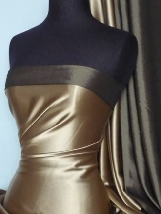 Satin Medium Weight Fabric- Matt Gold Q243 MTGLD