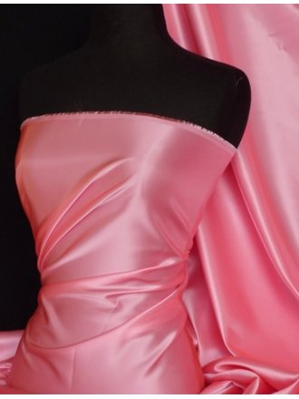 Acetate Satin Fabric Material- Candy Pink Q824 CDPN