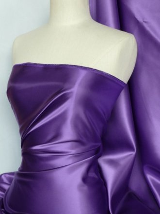 Acetate Satin Fabric Material- Purple Q824 PPL