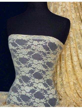 Flower Stretch Lace Fabric- Stone Q137 STN