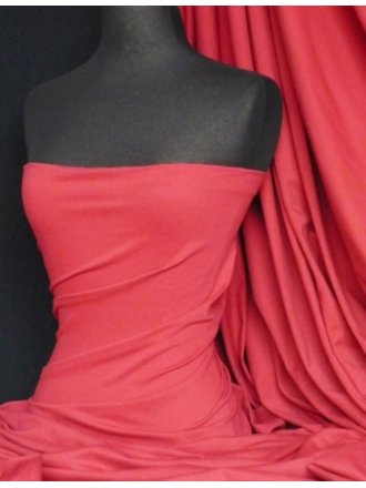 Cotton Lycra Jersey 4 Way Stretch Fabric -  Pinky Red Q35 PRD