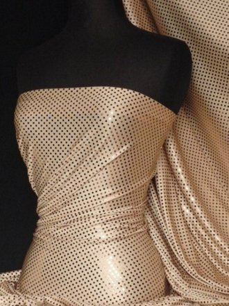 Bronze Sequins Stretchy Lycra Material
