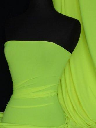 Bright Yellow Matt Lycra 4 Way Stretch Fabric