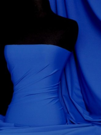 Matt Lycra 4 Way Stretch Fabric- Royal Blue Q56 RBL